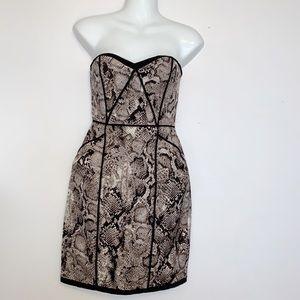BCBGMaxAzria 'SHANA' Strapless Python Dress